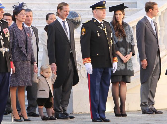 Le prince Albert II, Caroline de Monaco, Andrea Casiraghi et Tatiana Santo-Domingo le 19 novembre 2014