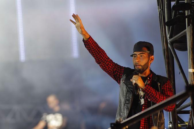 La Fouine au concert Urban Peace 3 organisé au Stade de France le 28 septembre 2013