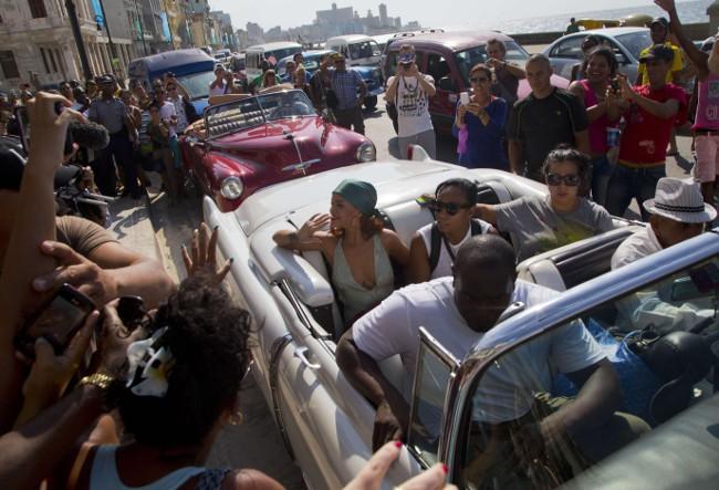 Rihanna de passage à la Havane
