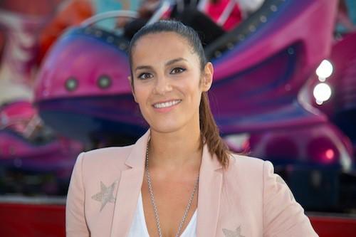Elisa Tovati à la fête à Neu Neu, à Boulogne, le 28 août 2015