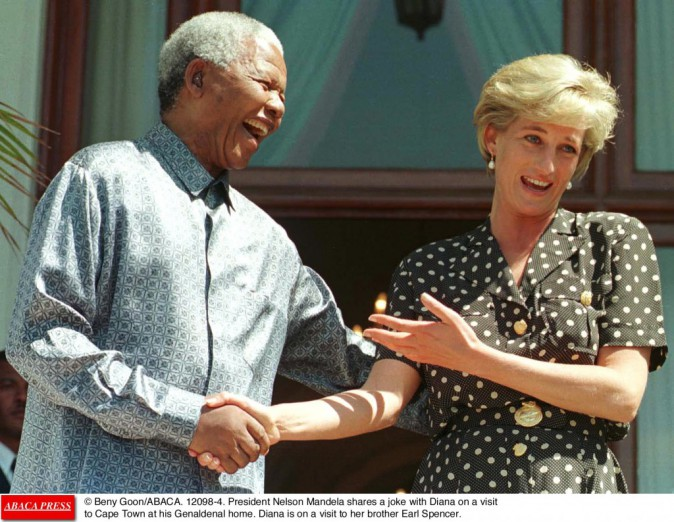 Lady Di avec Nelson Mandela