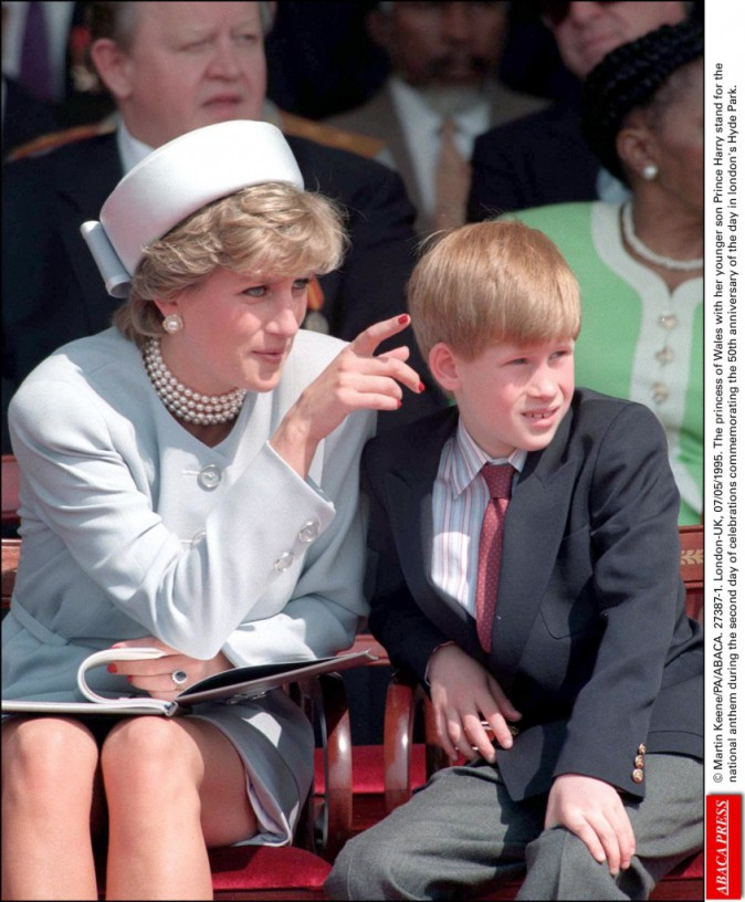 Lady Diana avec Harry le 07/05/1995