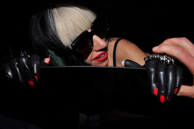 Lady Gaga à la sortie de son showcase privé !