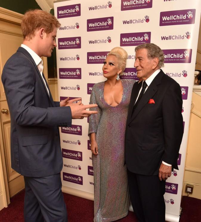 Lady Gaga, Tony Bennett et le Prince Harry le 8 juin 2015