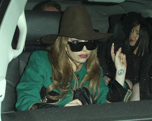 Lady Gaga, Los Angeles, 19 janvier 2013.