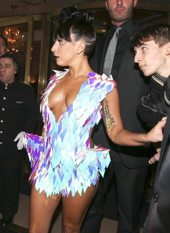 Lady Gaga à Paris le 24 novembre 2014