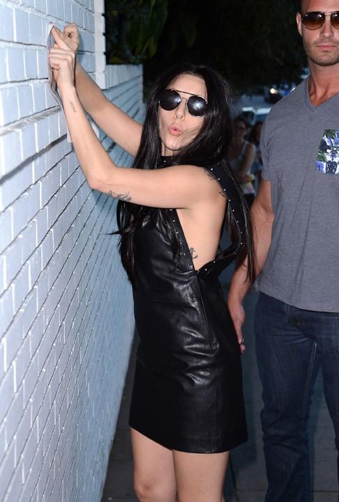 Lady Gaga sur Sunset Boulevard, à Los Angeles, le 17 août 2013