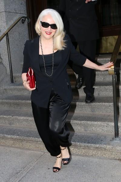 Cynthia, la maman de Lady Gaga, dans les rues de Montréal , le 1er juillet 2014