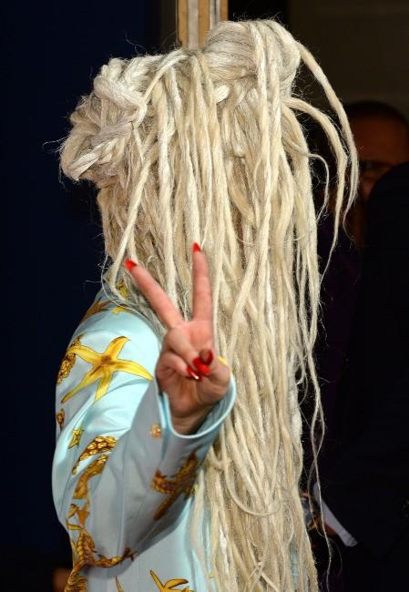"""Lady Gaga lors du """"Capital FM Jingle Bell Ball"""" à Londres, le 8 décembre 2013."""