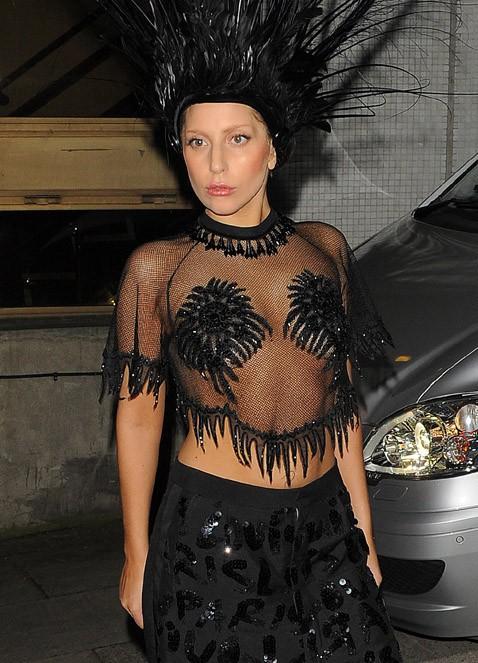 Lady Gaga à Londres le 29 octobre 2013