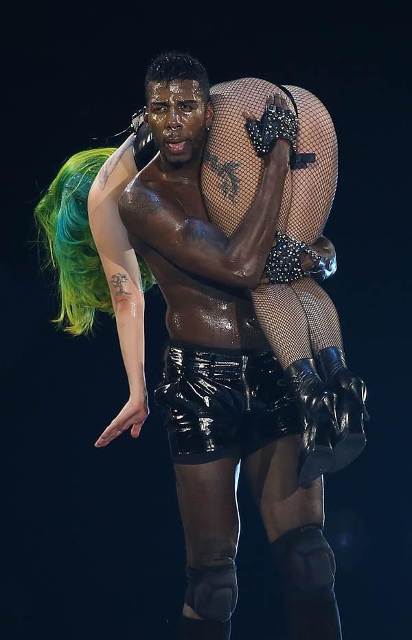 Lady Gaga en concert à Milan le 4 septembre 2014