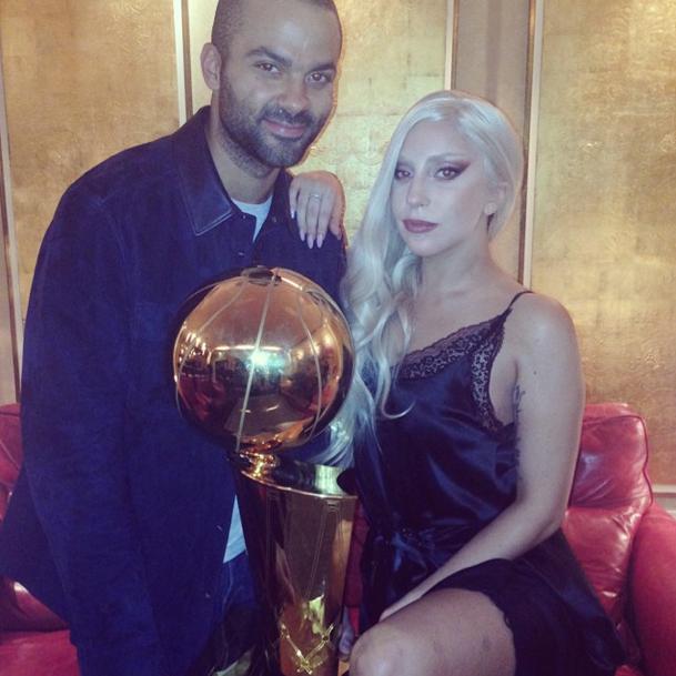 Lady Gaga et Tony Parker à Berlin le 8 octobre 2014