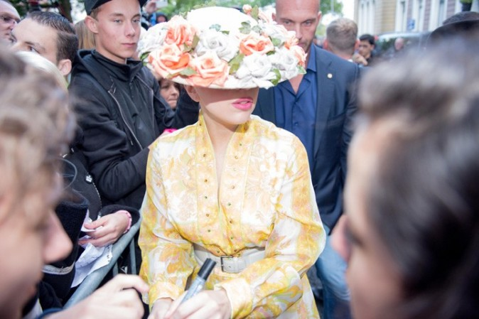 Lady Gaga à Amsterdam le 18 septembre 2012