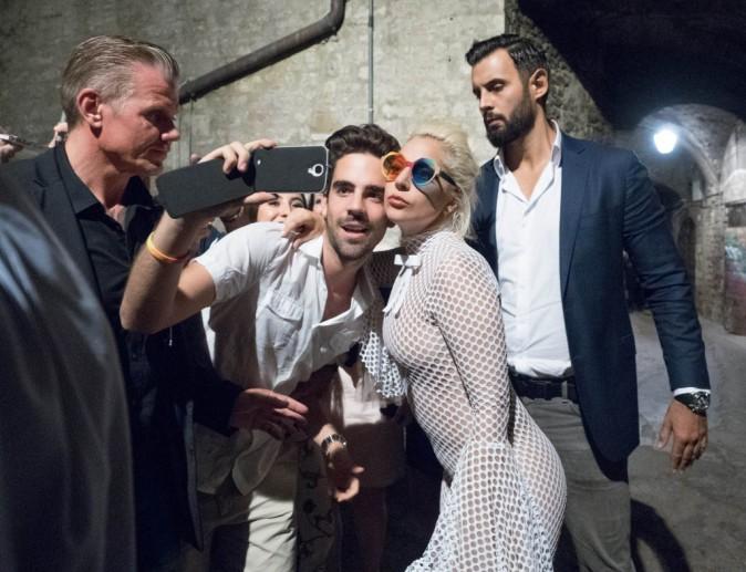 Lady Gaga en Italie, le 13 juillet 2015