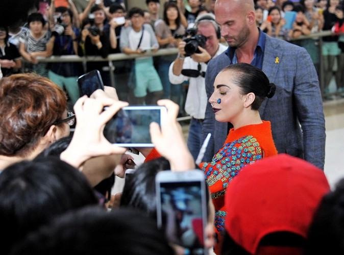 Lady Gaga à Séoul le 15 août 2014