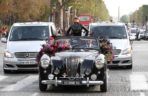 Lady Gaga à Paris pour la promo de son parfum Fame, le 23 septembre 2012.