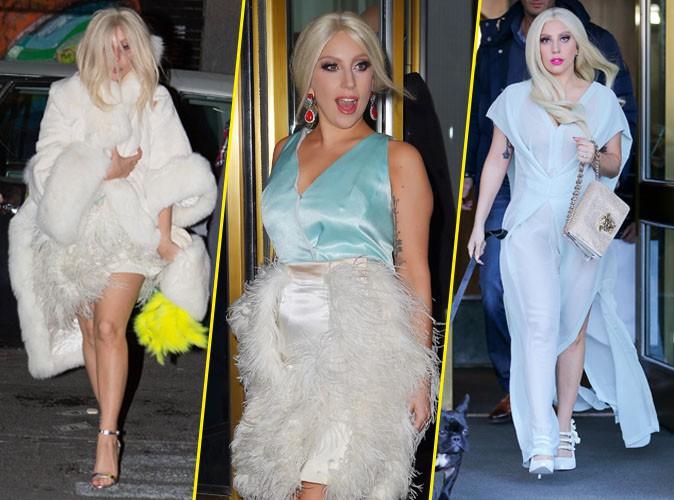 """Photos : Lady Gaga : une nouvelle """"horror"""" héroïne à la poitrine chancelante !"""