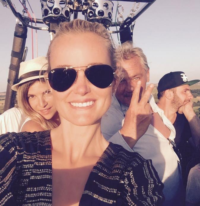 La famille Hallyday en vacances
