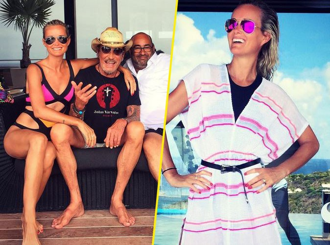 Laeticia et Johnny Hallyday en vacances à Saint-Barth