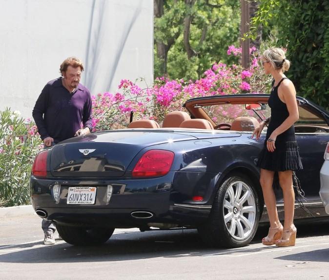 Laeticia et Johnny Hallyday à Los Angeles le 10 septembre 2012