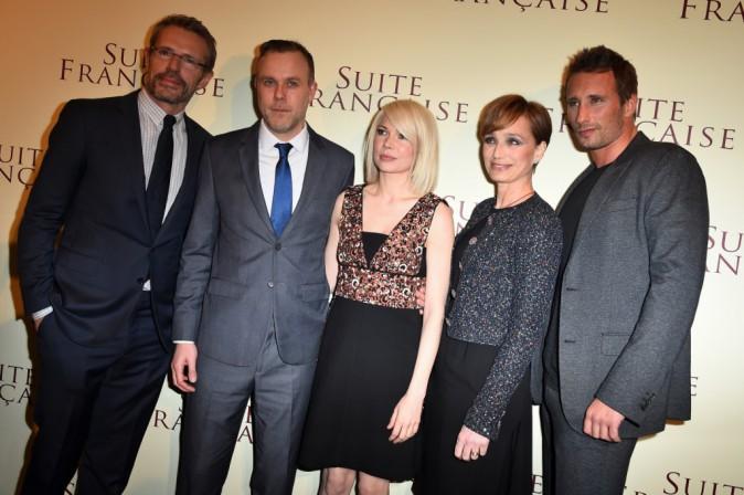 """Photos : Lambert Wilson : retrouvailles avec Kristin Scott Thomas et Michelle Williams pour """"Suite française"""" !"""