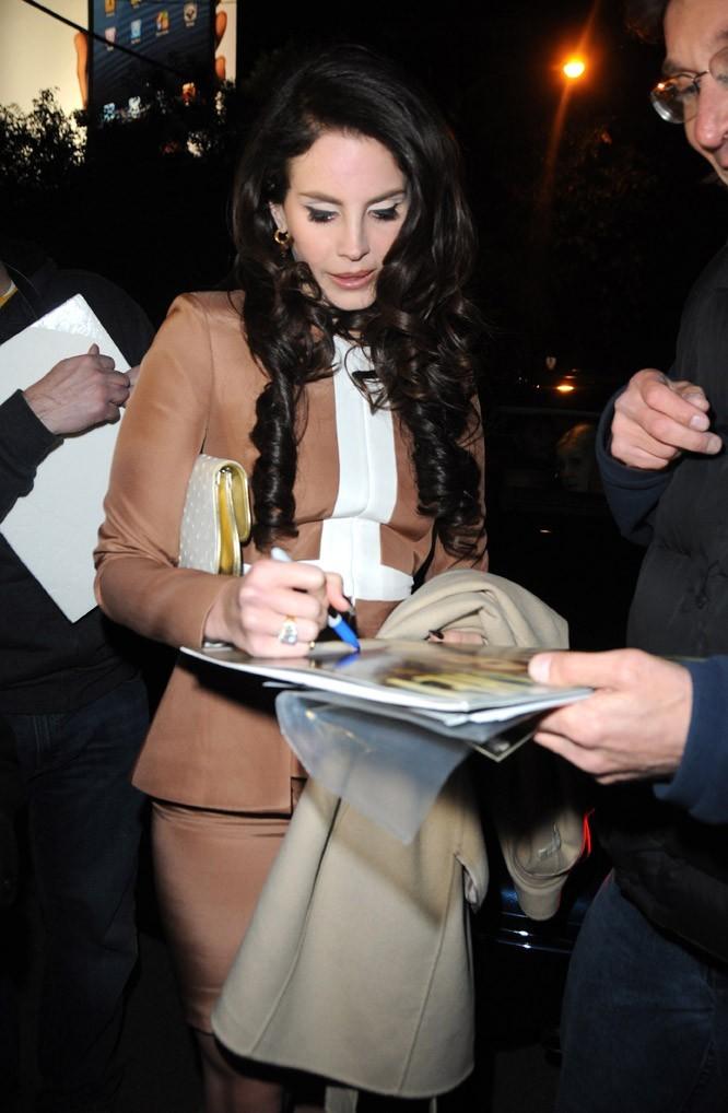 Lana Del Rey à la soirée pre Golden Globes de W Magazine à Los Angeles le 11 janvier 2013