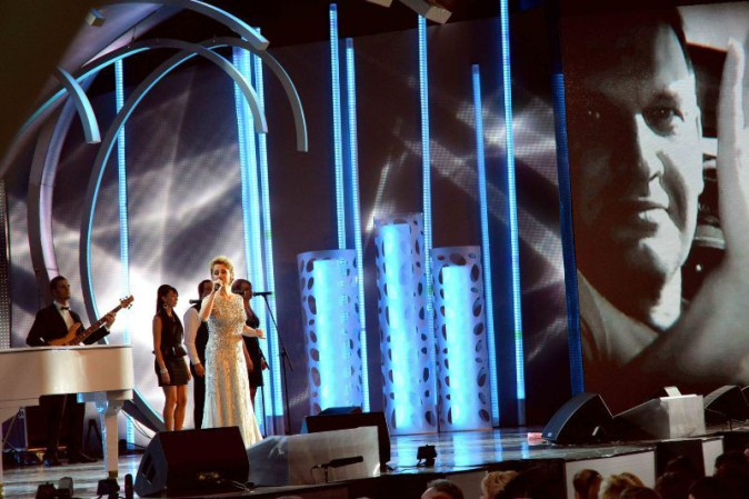 Lara Fabian lors du New Wave International Festival à Jurmala, le 27 juillet 2013.