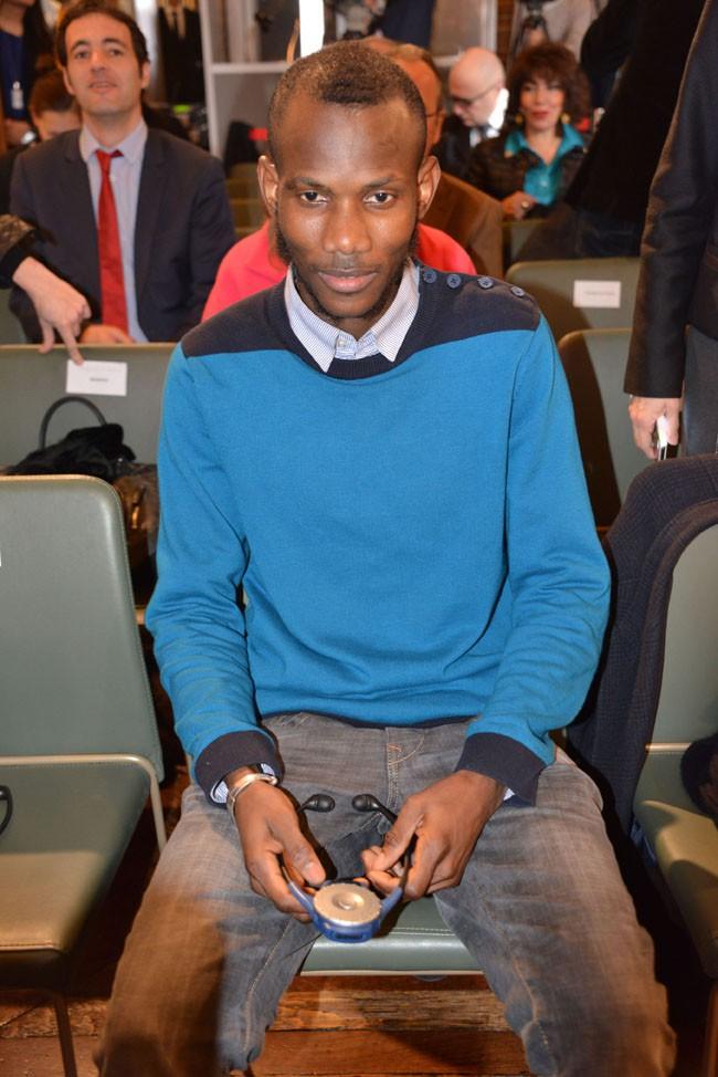 Lassana Bathily à la mairie de Paris le 16 janvier 2015