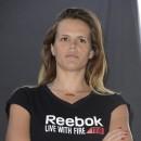 Laure Manaudou à La Défense le 4 mai 2013 pour le Reebok Live With Fire Tour