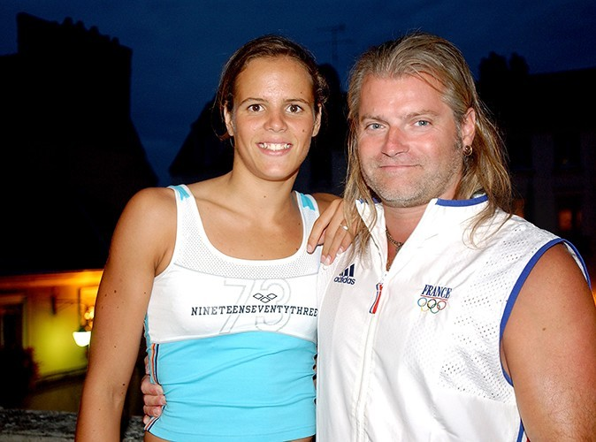 Laure et son entraîneur Philippe Lucas en 2004.