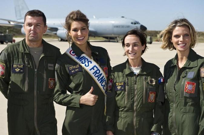 Laury Thilleman et Sylvie Tellier sur la base aérienne d'Istres le 22 septembre dernier !
