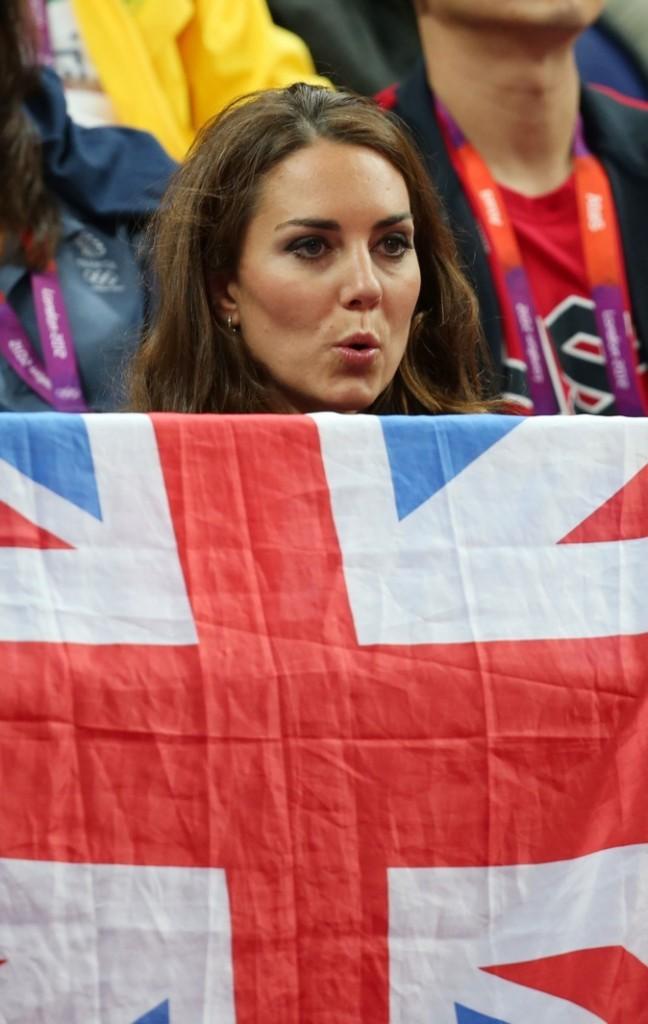 Kate Middleton, elle supporte la GB !