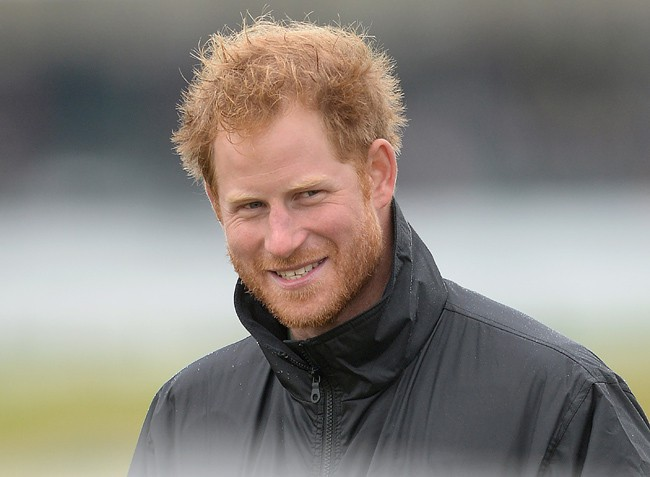 Le Prince Harry à l'aérodrome de Goodwood le 15 septembre 2015
