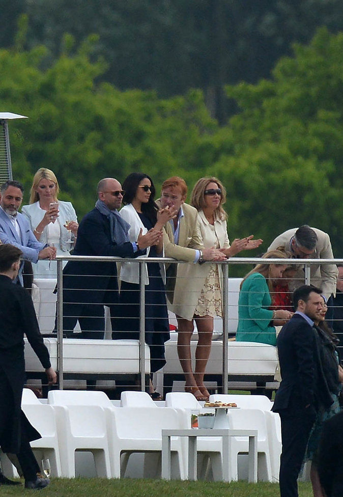 Meghan Markle assiste à un match de polo où joue le Prince Harry - Ascot, le 6 mai 2017