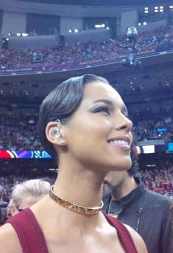 Alicia Keys émue après son concert !