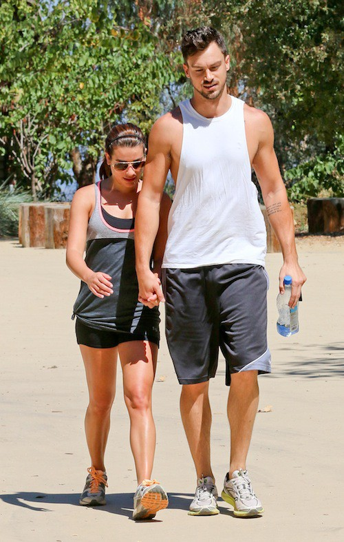 Photos : Lea Michele : câline, elle ne lâche plus son boyfriend, Matthew Paetz !