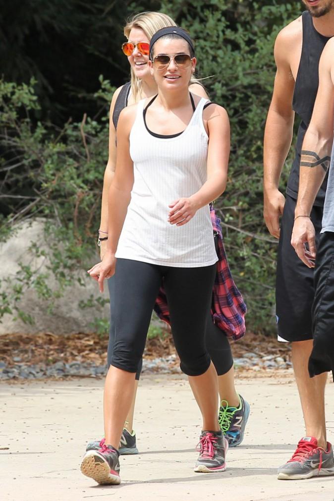 Photos : Lea Michele : comme sa rivale Naya Rivera, elle conserve la forme avec son chéri !