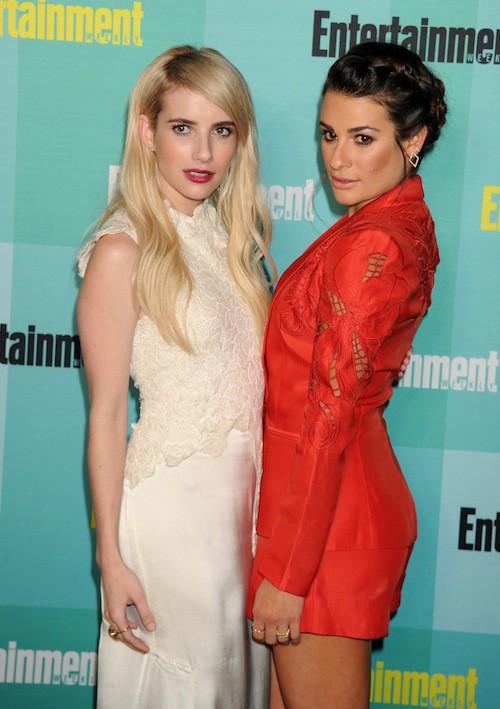 Photos : Lea Michele décolletée, elle ne quitte plus sa nouvelle BFF Emma Roberts !