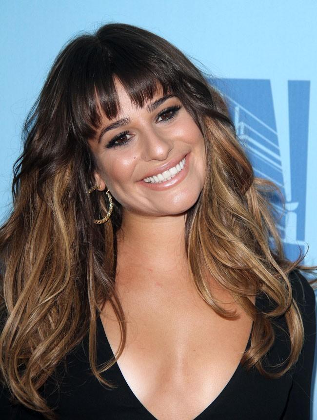 Lea Michele lors du lancement de la quatrième saison de Glee, le 12 septembre 2012 à Hollywood