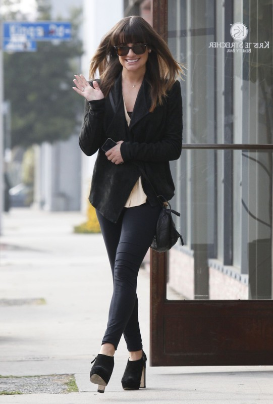 Lea Michele le 5 février 2013 à Los Angeles