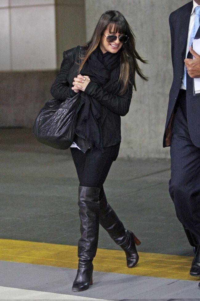 Lea Michele, sexy en cuissardes !