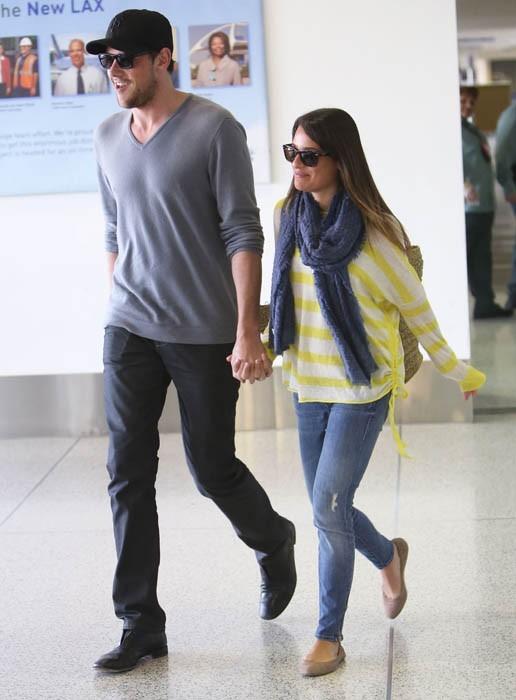 Lea Michele et Cory Monteith rentrent de vacances !