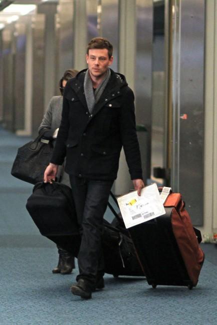Cory Monteith à l'aéroport de Vancouver, le 25 novembre 2012.