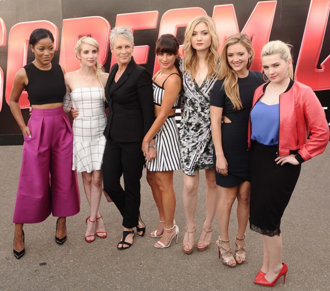 Keke Palmer, Emma Roberts, Jamie Lee Curtis, Lea Michele, Skyler Samuels, Billie Catherine Lourd et Abigail Breslin le 12 juillet 2015 le 12 juillet...