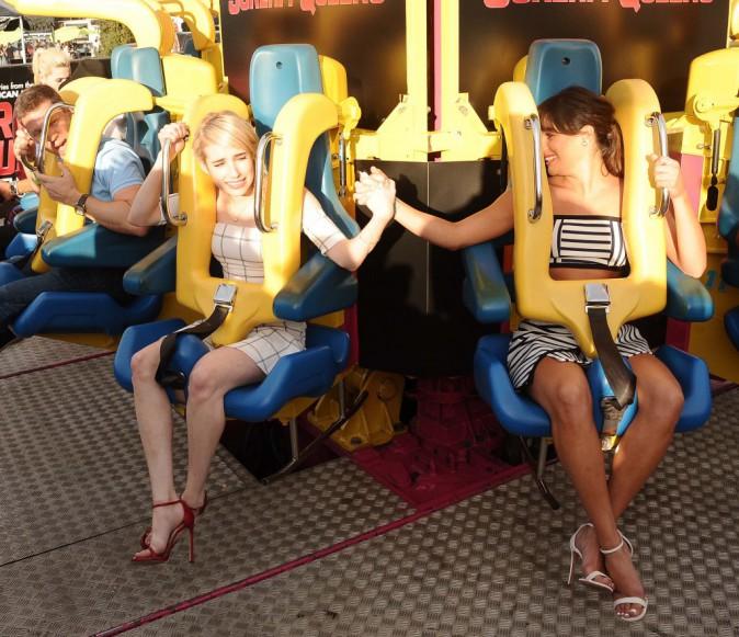 Lea Michele et Emma Roberts le 12 juillet 2015