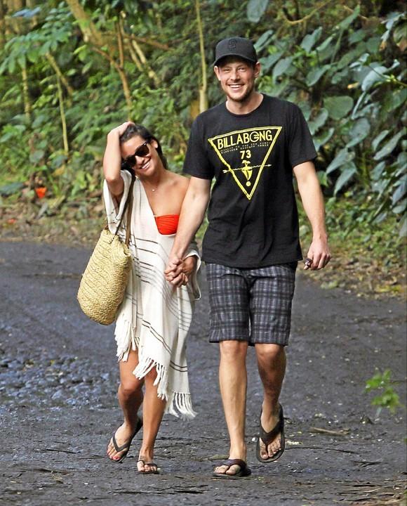 Lea Michele et Cory Monteith, Hawaii, 1er janvier 2013