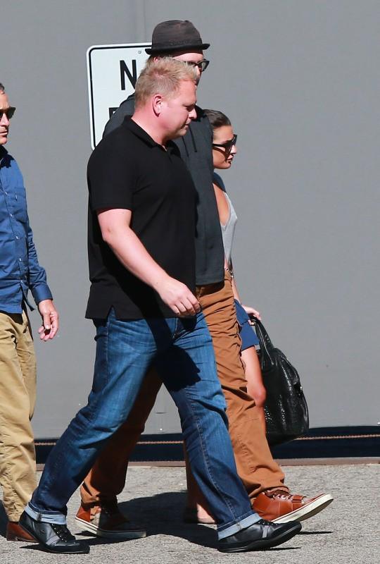 Lea Michele arrive à un studio d'enregistrement à Hollywood, le 5 août 2013.