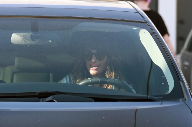 Lea Michele à West Hollywood, le 19 septembre 2013.