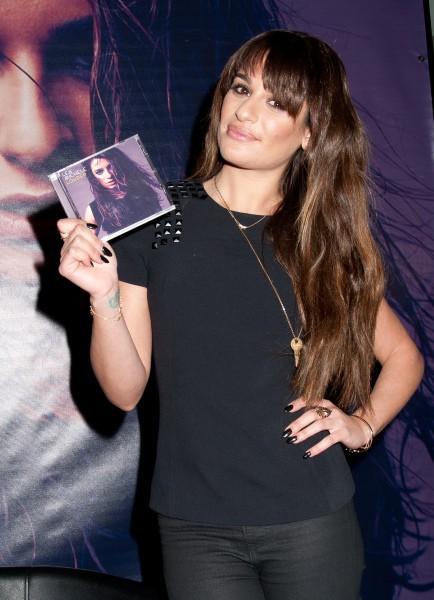 """Lea Michele en promo pour son album """"Louder"""" dans le New Jersey, le 3 mars 2014."""