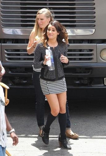 Lea Michele et Heather Morris à Los Angeles le 1er mai 2014